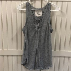 Women's XS White Crow grey Tank